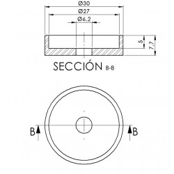 Adapter rear mirror hi-tech IV Aprilia Tuono V4 black