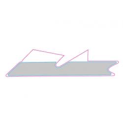 LH lower strip decal