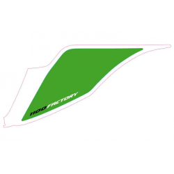 Left tail fairing number plate decal