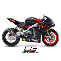 Full exhaust system 2-1, with SC1-R Muffler, carbon