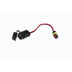 USB socket OEM part on RSV4 1100 Factory vehicle versions.