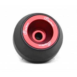 Wheel axle sliders red