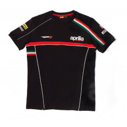 Man T-Shirt Short Sleeve Aprilia Racing Paddock 2012 Black