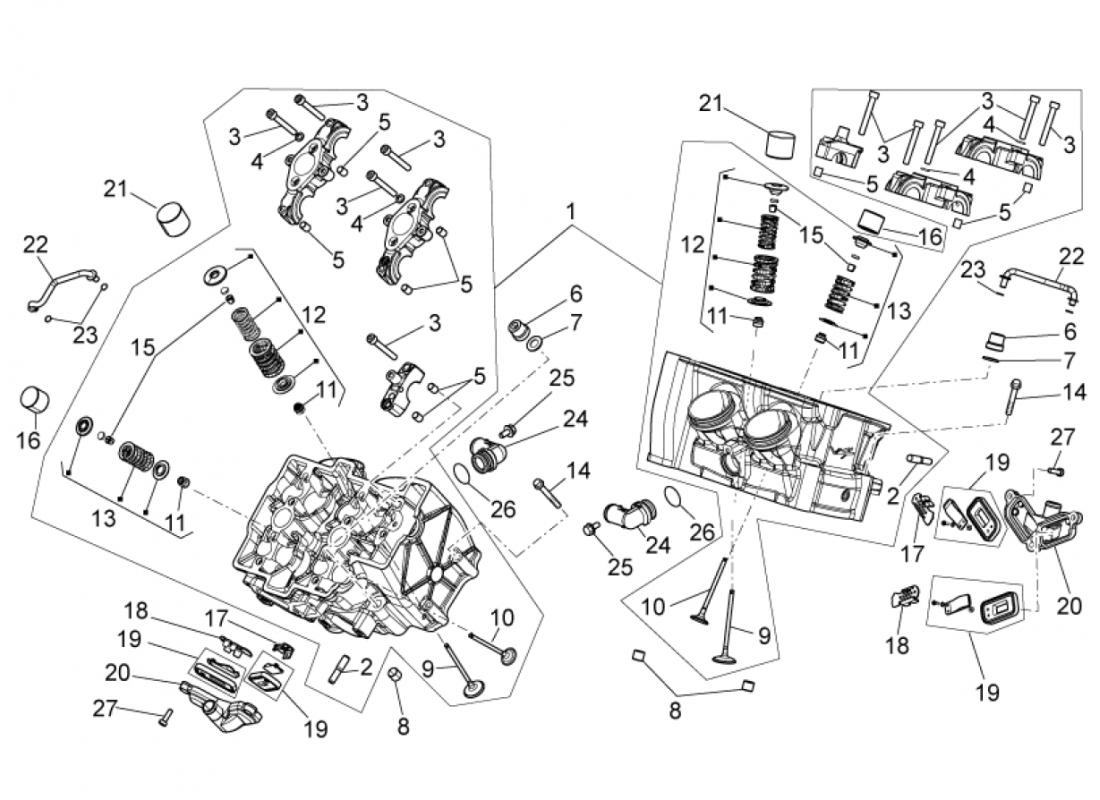 Cylinder head-valves