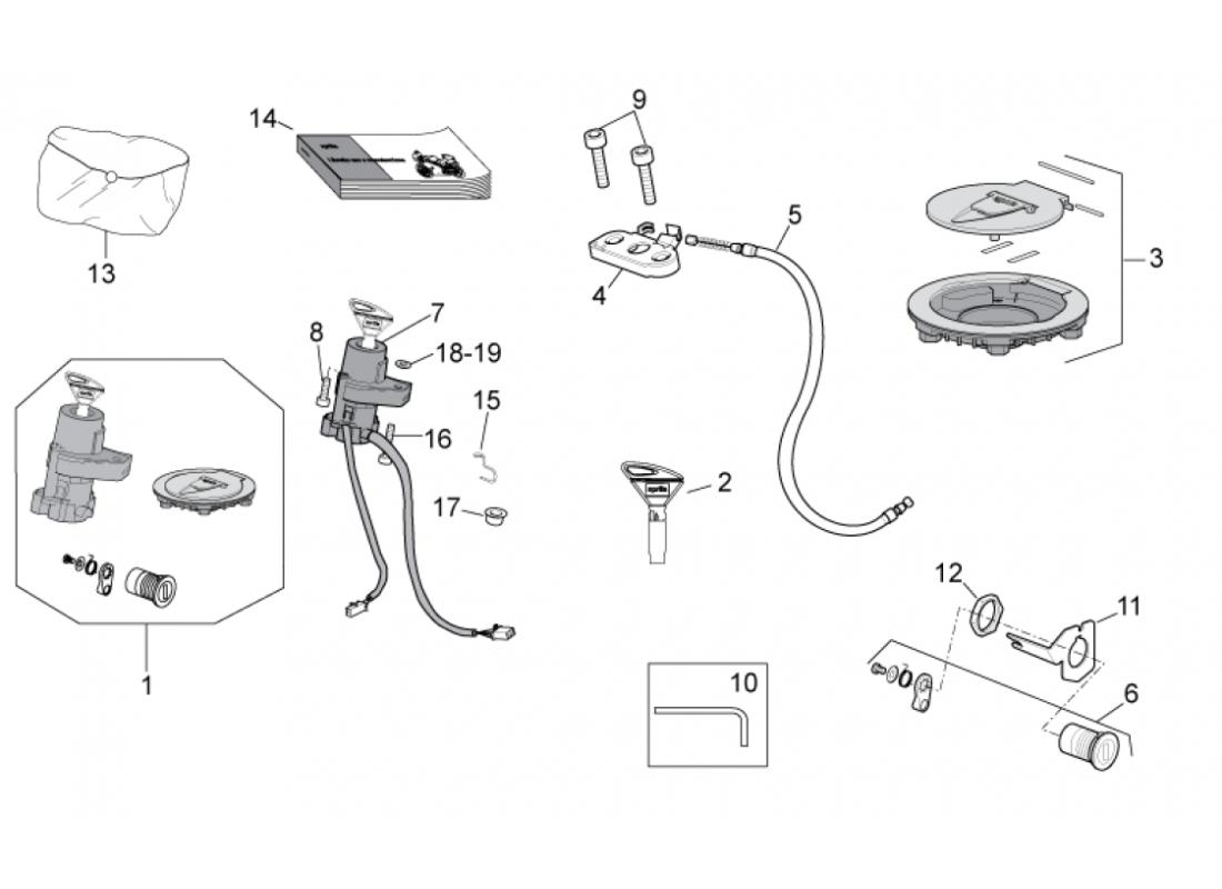 Lock hardware kit