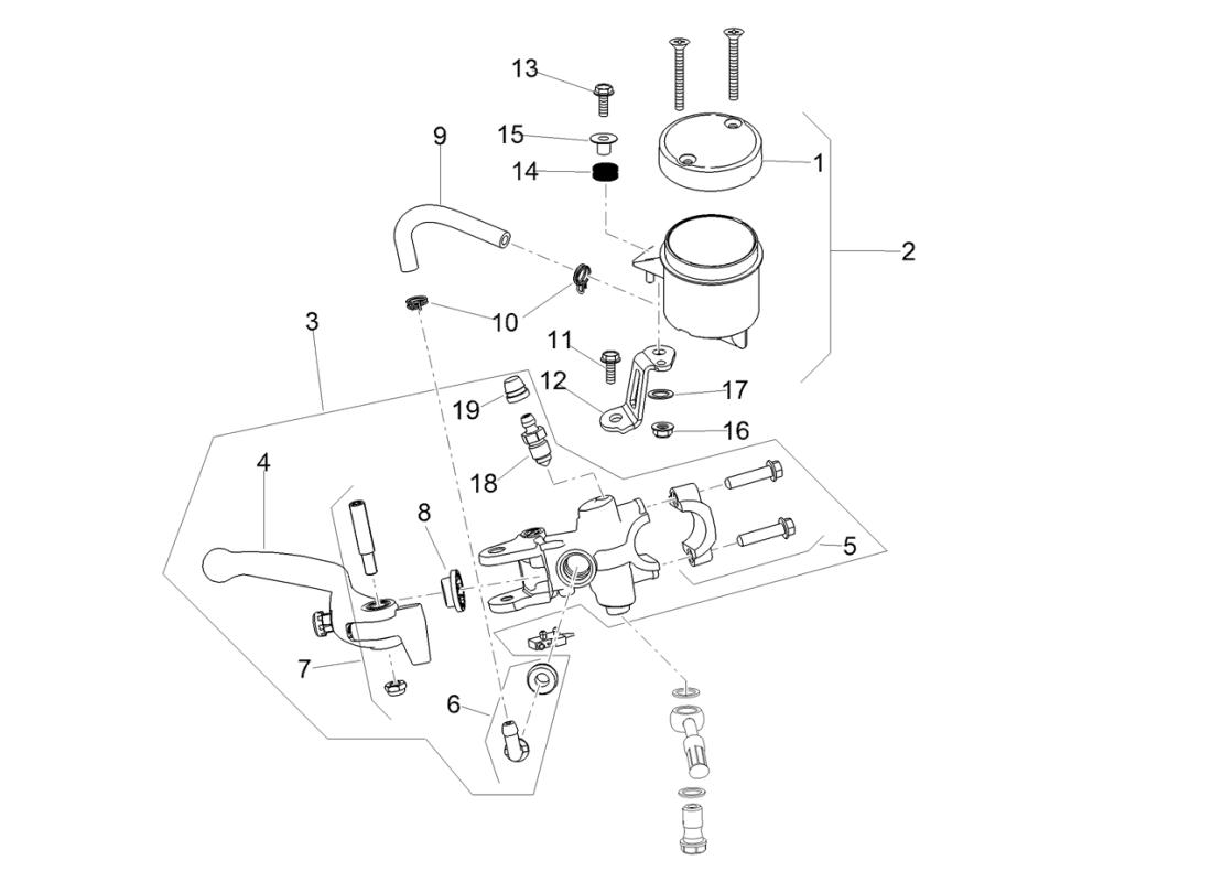 Front master cilinder