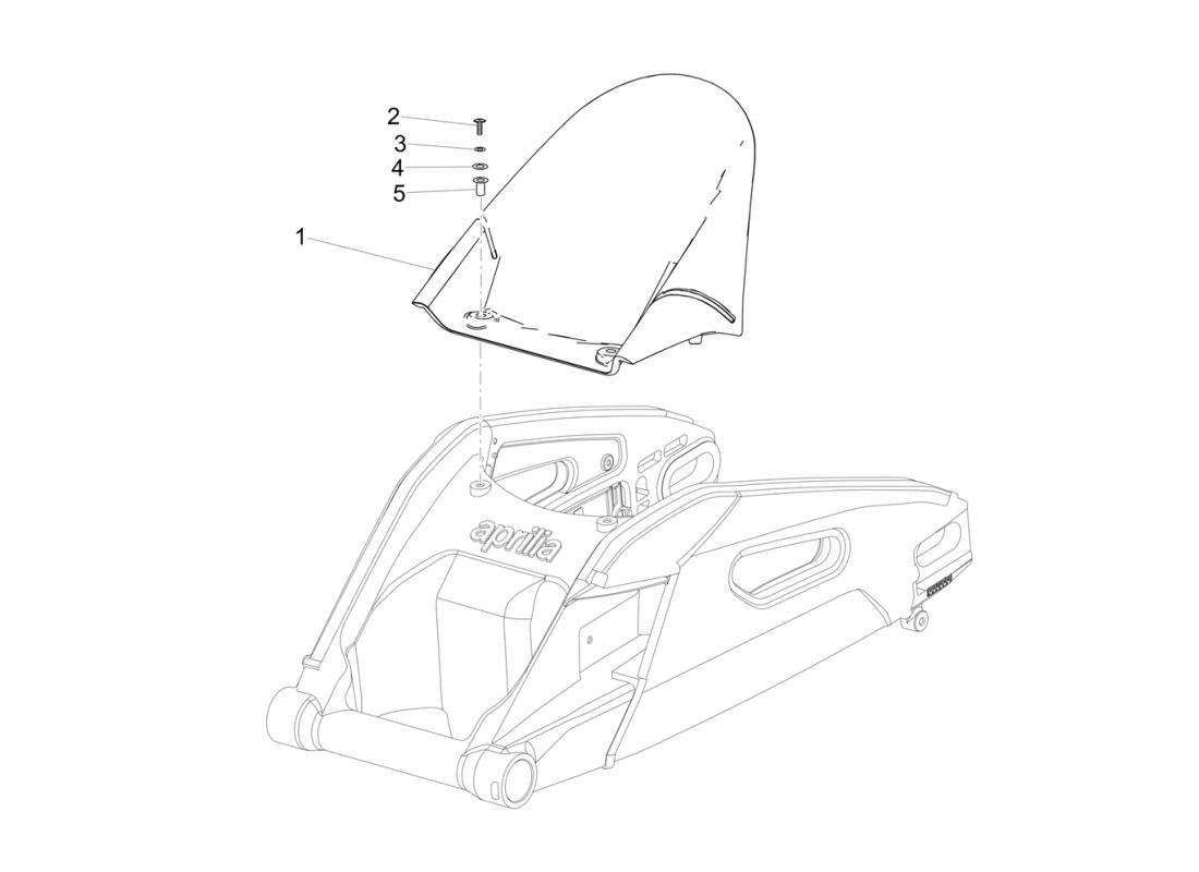 Rear mudguard